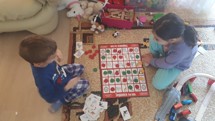 Sequence for kids boardgame